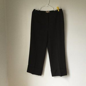Michael Kors Collection Cropped Cuff Wool Pants